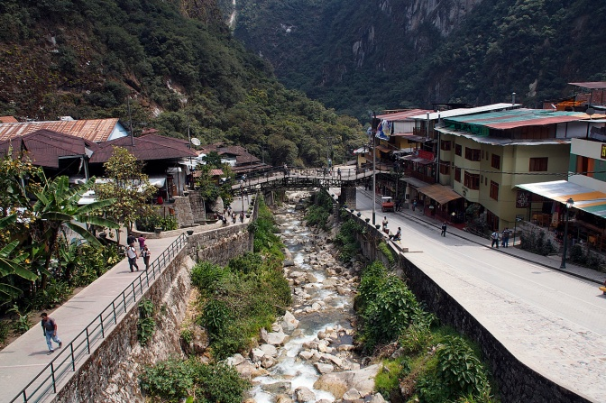 Aguas Calientes, also known as Machu Picchu Pueblo.