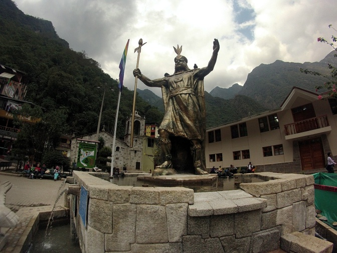 Plaza in Aguas Calientes.