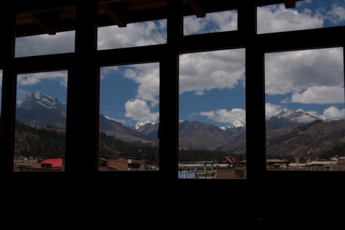 View from Cafe Andina in Huaraz.
