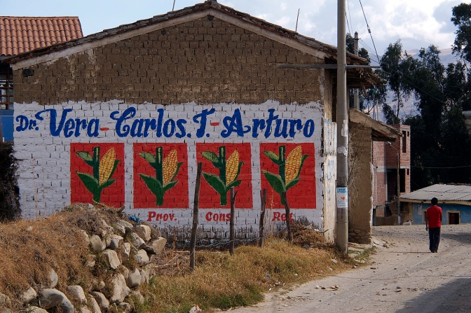Election sign in El Pinar.