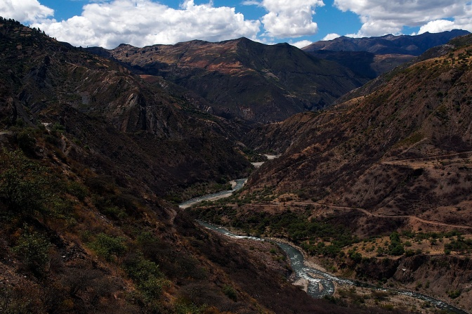 Valley running northwest from San Luis.