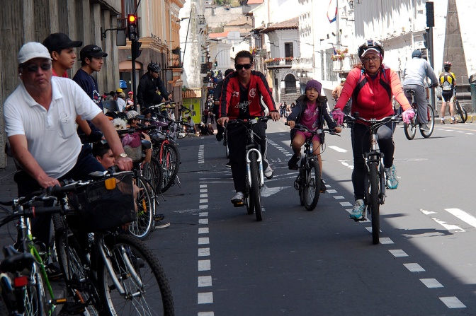 Old Town is closed to traffic on Sundays and bicycles take over the city.