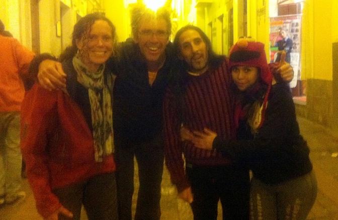 With Santiago and Karina in La Ronda.