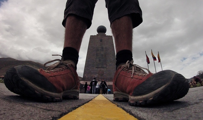 Straddling the supposed Equator.