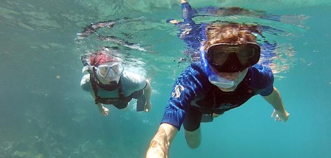 Snorkelling off R‡ábida Island.