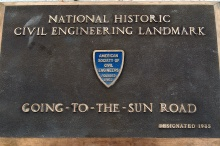 Road-side plaque.