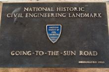 Road-side plaque.