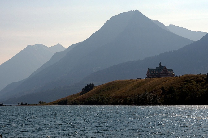 The Prince of Wales Hotel in Waterton Lake National Park.