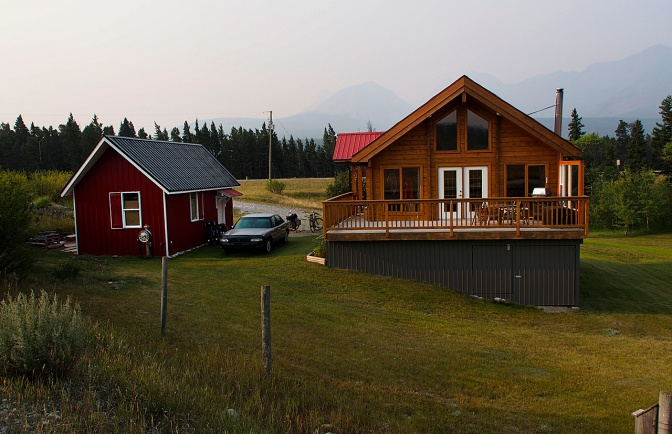 Wim's place in the Crowsnest Pass.