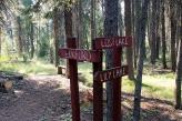 Trail marker above Elkford.