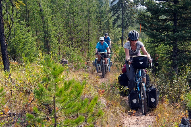 Riding into Elkford.