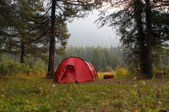 Camp in Kananaskis country.
