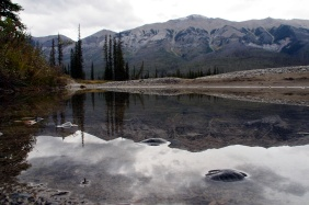 Kootenay River reflection.