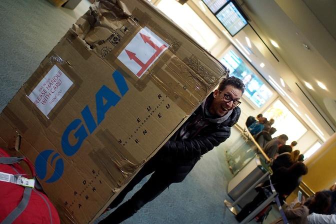 Christoph arrives at YVR.