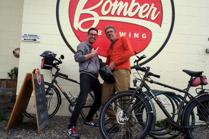 Bomber Brewing, a stop on our ride around the city.