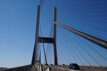 Crossing the Alex Fraser Bridge.