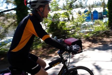 Riding the Lochside Trail into Victoria.
