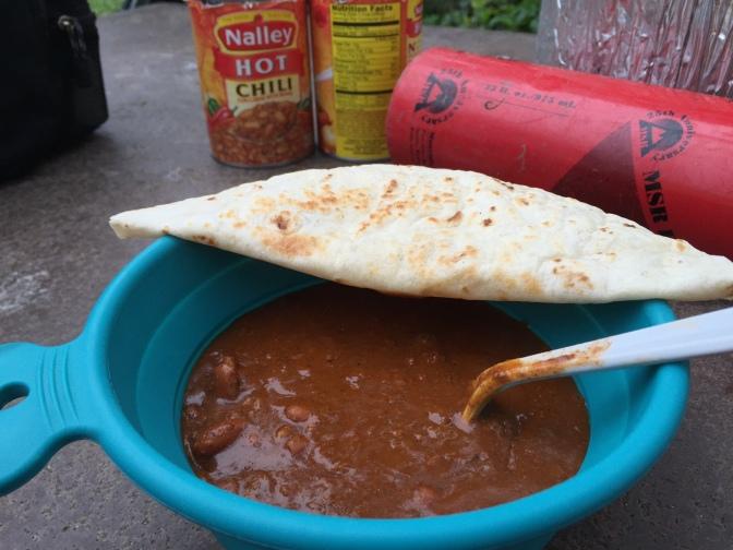 Chili and tortillas.