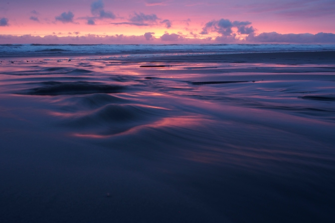Glorious Pacific sunset at Kalaloch Beach.