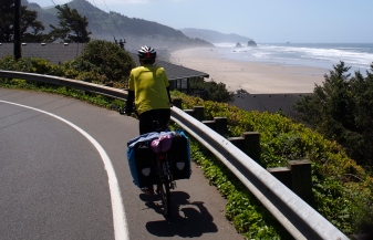 Riding south on HWY 101 south of Cannon Beach.