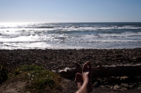 Chilling by the sea at Cape Lookout.