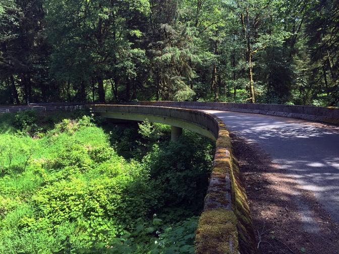 Moss-covered bridge on Slab Creek Road.