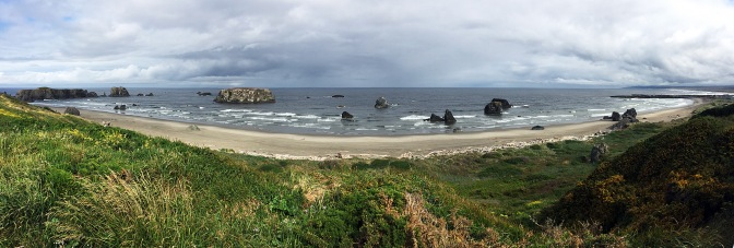 Bandon Beach panorama.