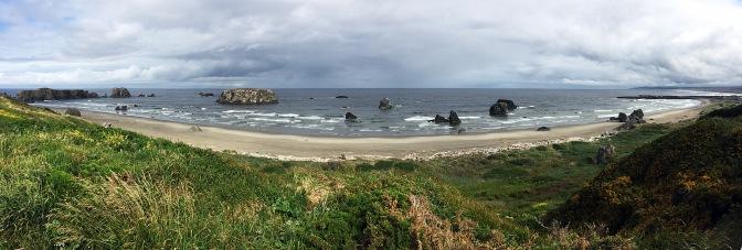 Bandon Beach panorama.