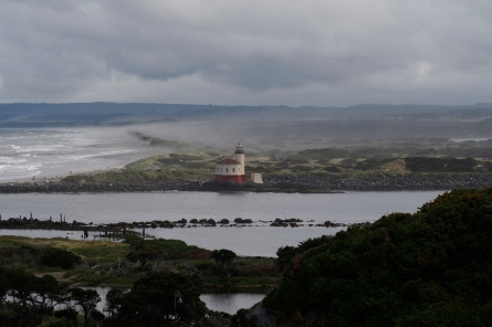 The Coquille River light house at Bandon, OR.
