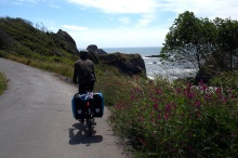 We rode along a lovely small road between Trinidad and McKinleyville, CA.
