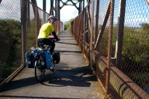 An de-commissioned railway is now a lovely bike path near Arcata, CA.