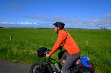 Cycling through the Arcata countryside.