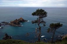 The coast south of Mendocino, CA.