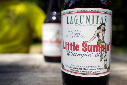 One of Lagunitas Brewery's offerings. Their slogan: Life Is Uncertain. Don't Sip.