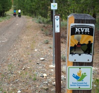 Start of the Kettle Valley Rail Trail from Princeton to Summerland.