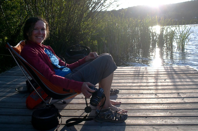 Relaxing at Seymour Landing on Osprey Lake.