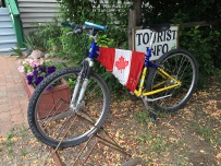 A Canada Day bicycle at the Hedley Mining Museum.