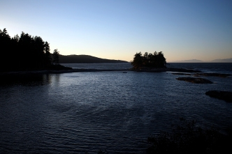 Sunset over the lagoon and Porlier Pass.