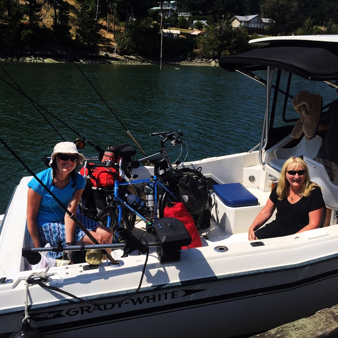 Our friends Valerie and Greg picked us up at the Whaler Bay dock.