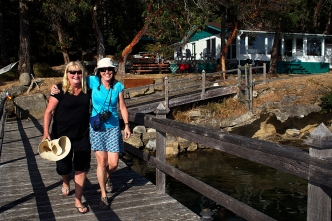 Val and Jan on the dock of Phil and Autumn's house.
