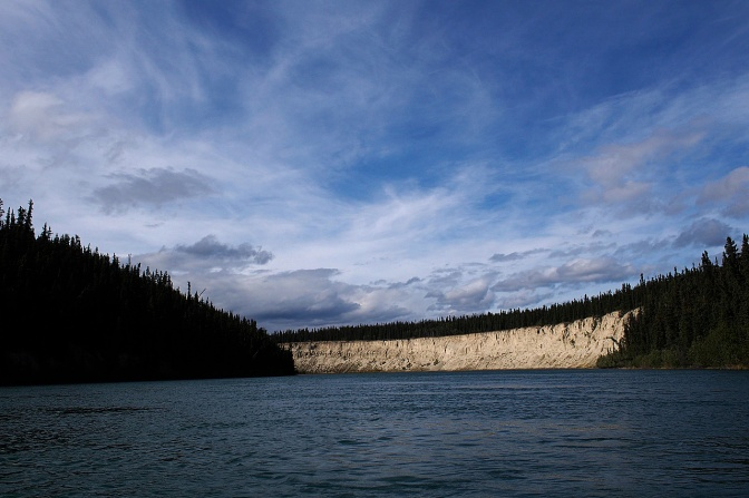 High cut banks line the Yukon River.