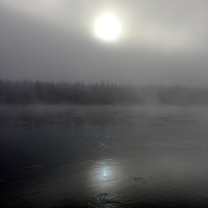 Foggy Carmacks morning.