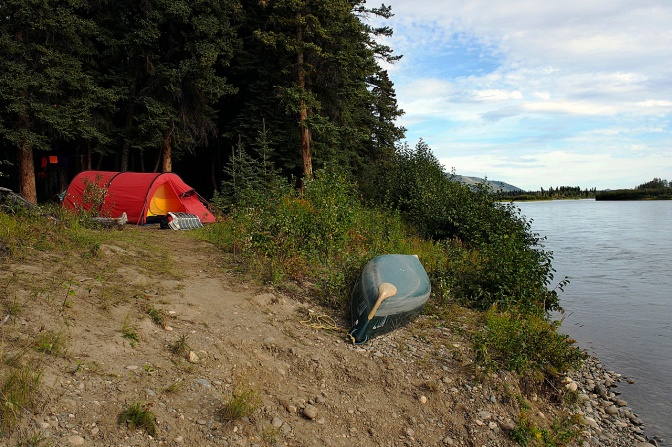 Blanshard's Woodyard camp near Hell's Gate.