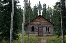 Saint Francis Xavier Catholic Church at Fort Selkirk, built in 1898, it was the second Catholic church in the Yukon Territory, speaking to its remoteness.