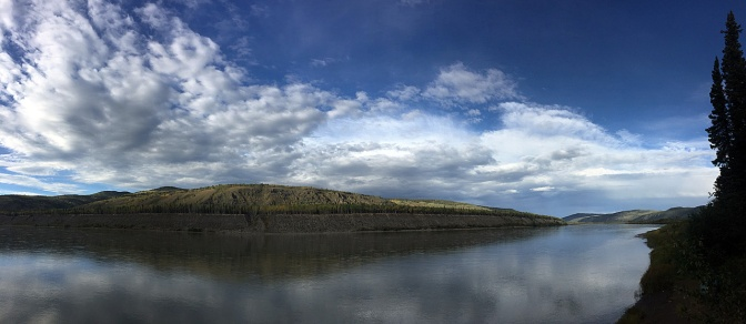 Yukon River panorama north of Fort Selkirk.