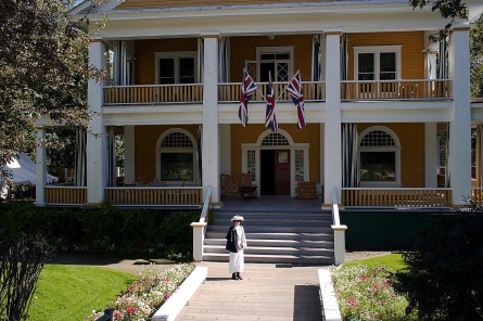 The restored Commissioner's Mansion on Front Street.