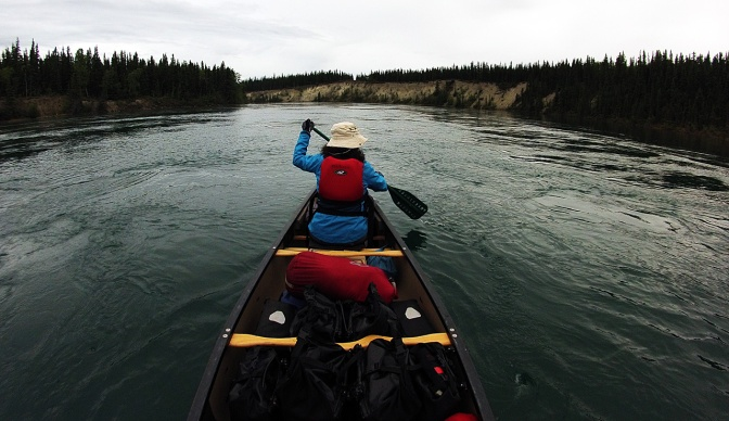 Heading down the 30 Mile section of the Yukon River.