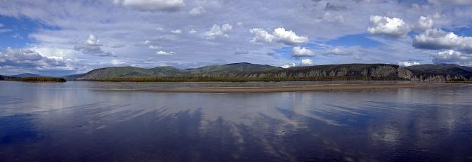 Yukon River panorama at Meacham Creek.