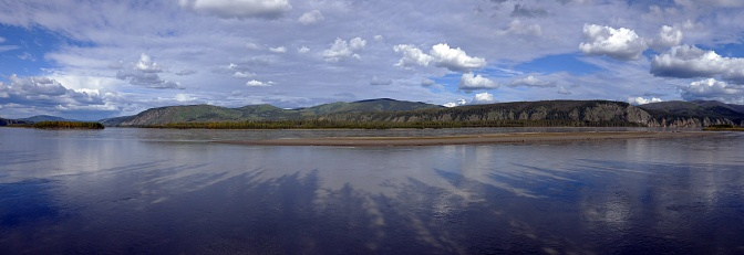 Yukon River panorama at Meacham Creek.