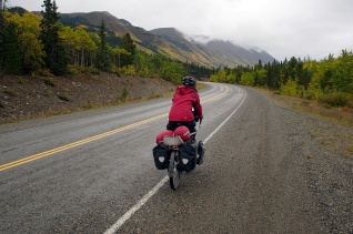 Heading south on the Klondike Highway from Whitehorse.